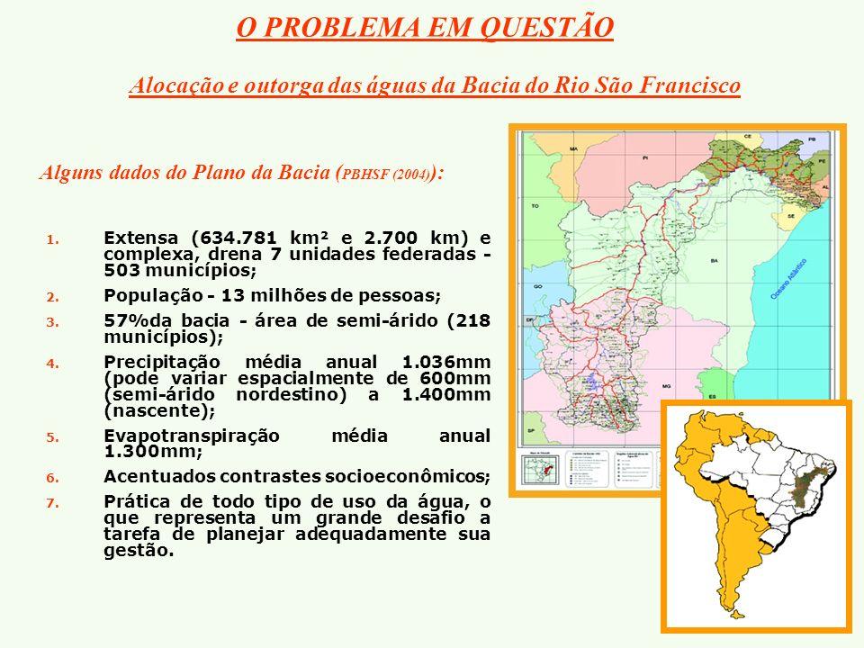 Alocação e outorga das águas da Bacia do Rio São Francisco