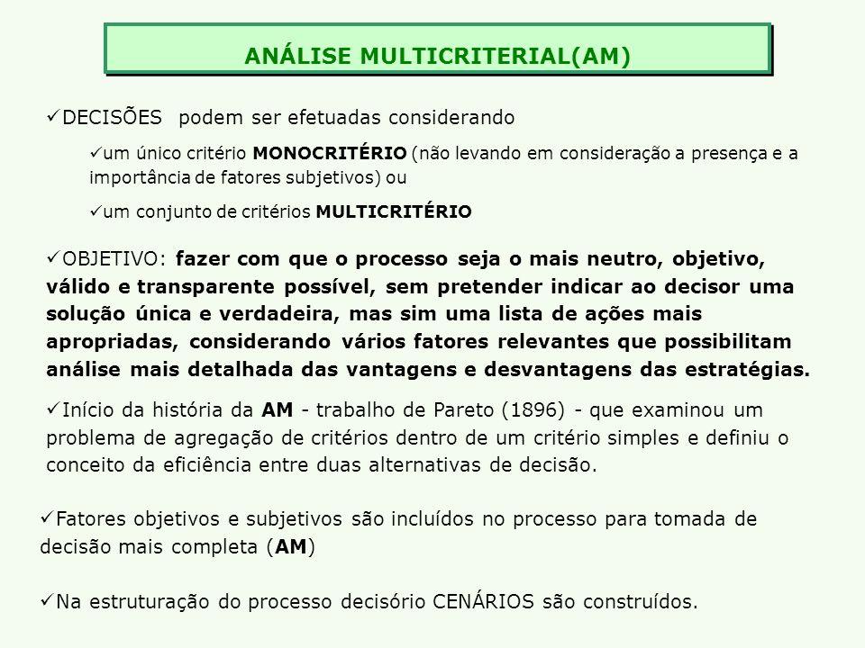 ANÁLISE MULTICRITERIAL(AM)