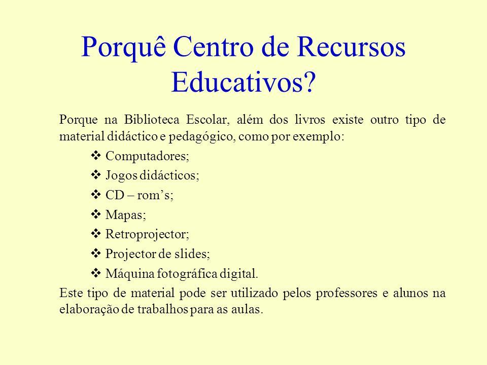 Porquê Centro de Recursos Educativos