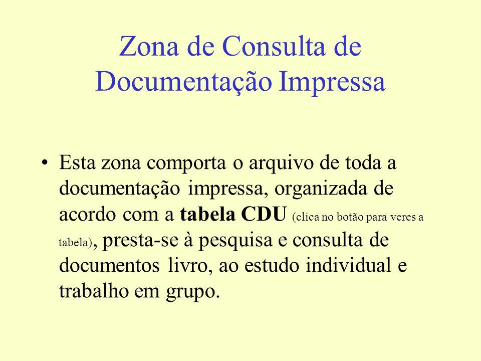 Zona de Consulta de Documentação Impressa