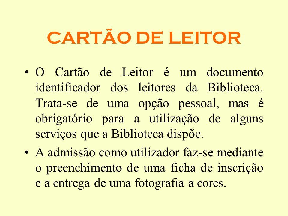 CARTÃO DE LEITOR