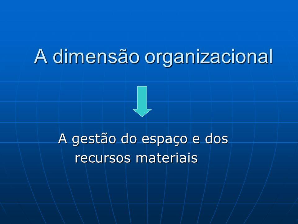 A dimensão organizacional
