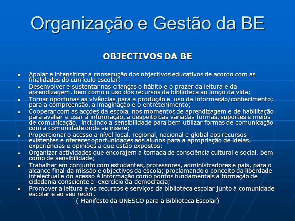 Organização e Gestão da BE