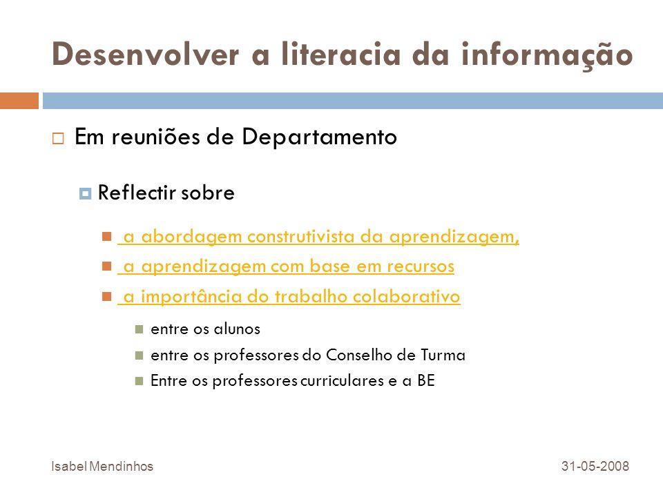 Desenvolver a literacia da informação