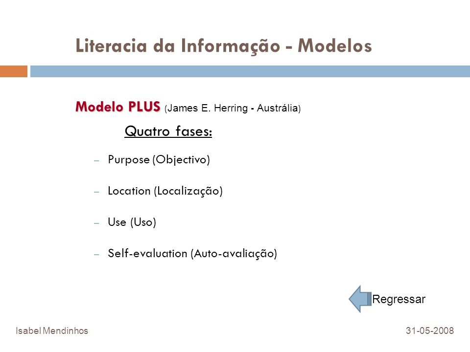 Literacia da Informação - Modelos