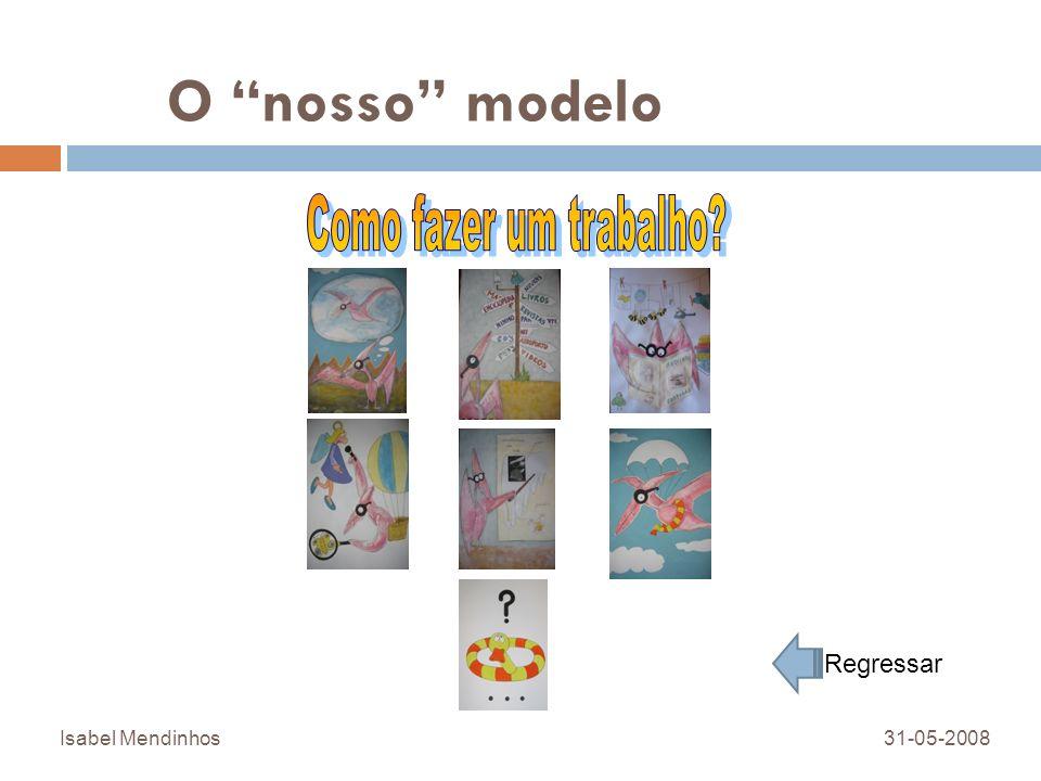 O nosso modelo Como fazer um trabalho Regressar Isabel Mendinhos