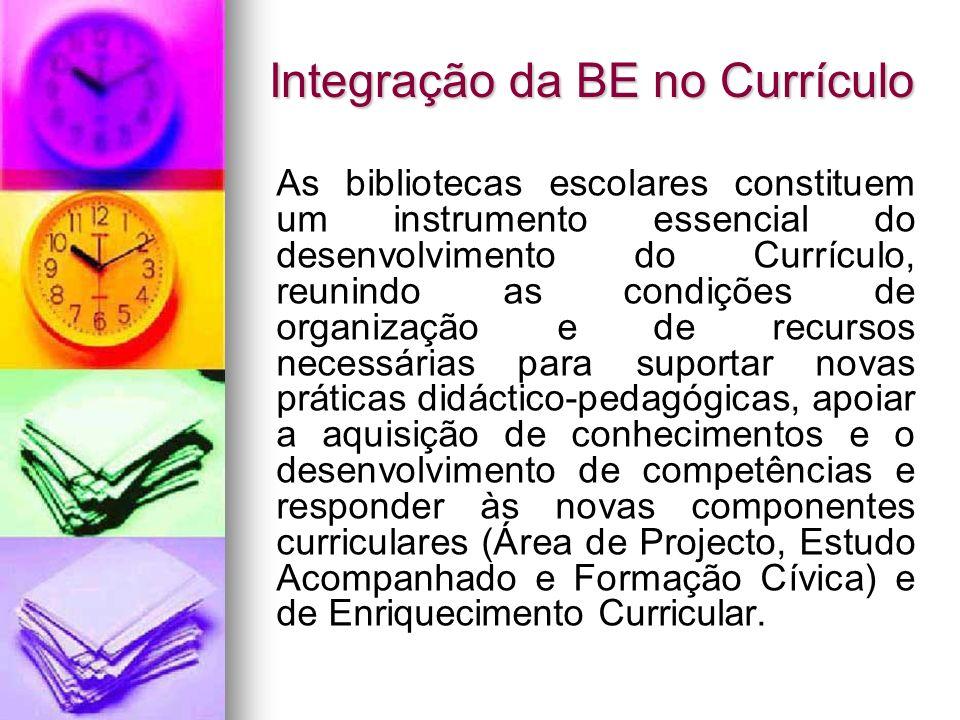 Integração da BE no Currículo