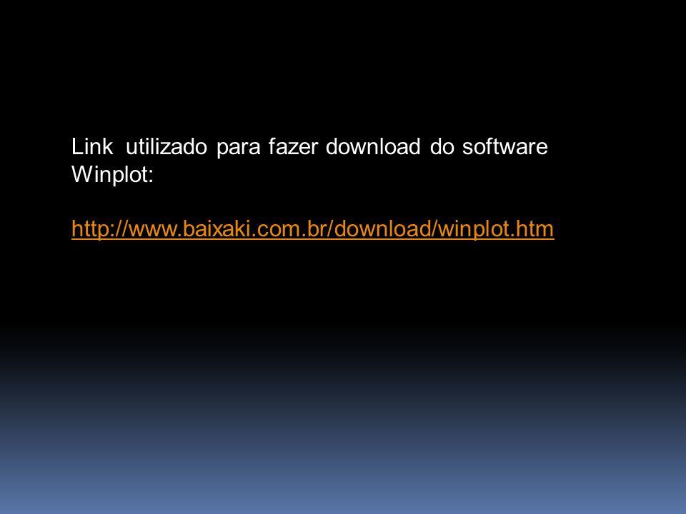 Link utilizado para fazer download do software Winplot: