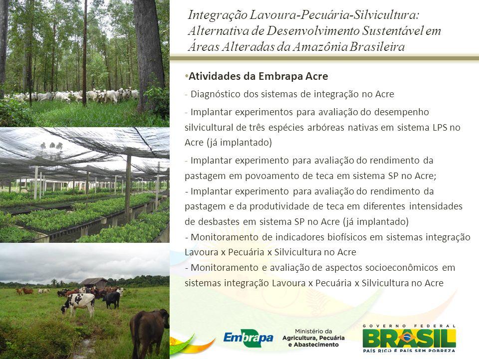 Integração Lavoura-Pecuária-Silvicultura: Alternativa de Desenvolvimento Sustentável em Áreas Alteradas da Amazônia Brasileira