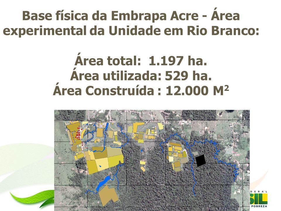 Base física da Embrapa Acre - Área experimental da Unidade em Rio Branco:
