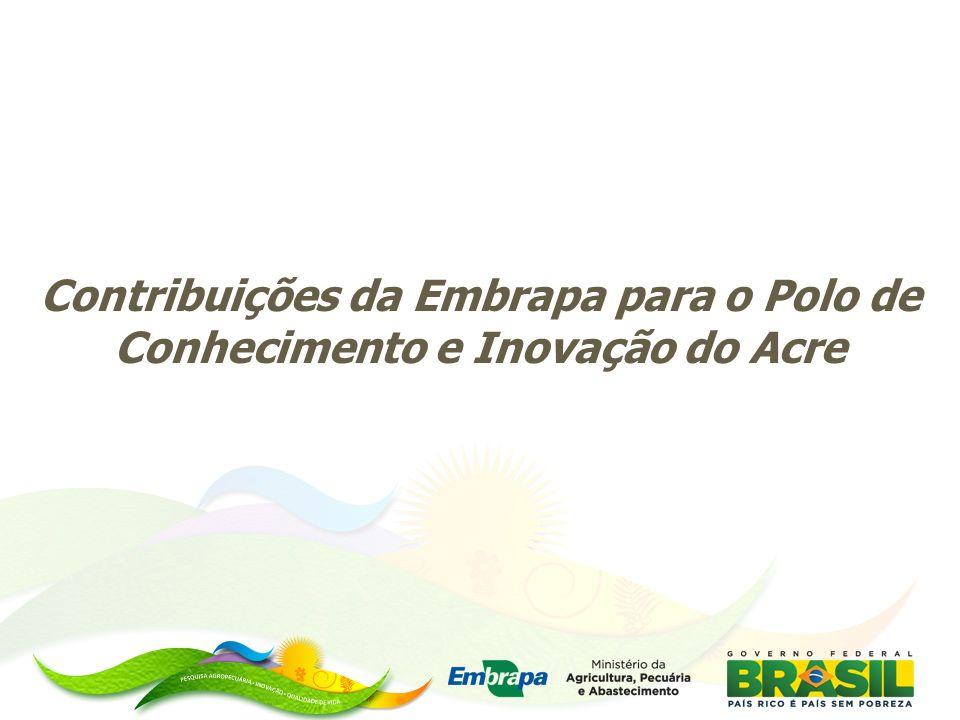 Contribuições da Embrapa para o Polo de Conhecimento e Inovação do Acre