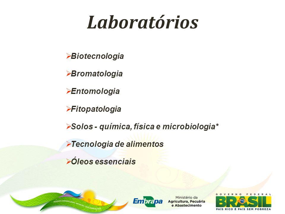 Laboratórios Biotecnologia Bromatologia Entomologia Fitopatologia