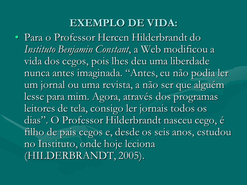 EXEMPLO DE VIDA: