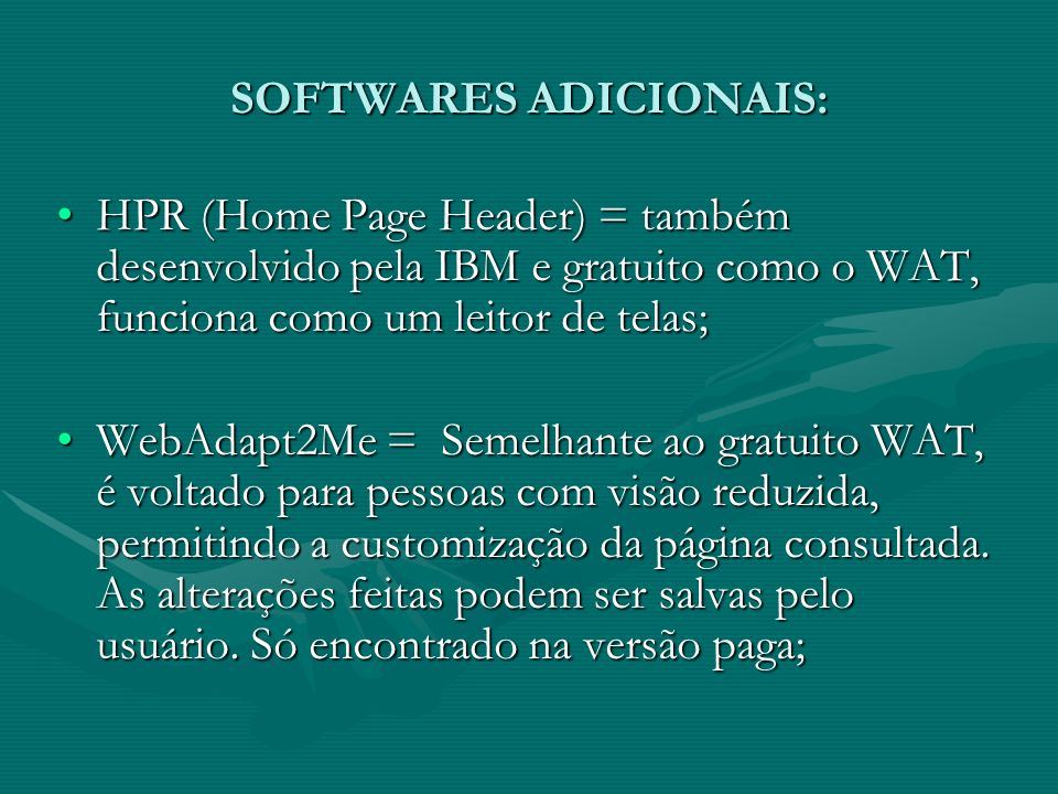 SOFTWARES ADICIONAIS: