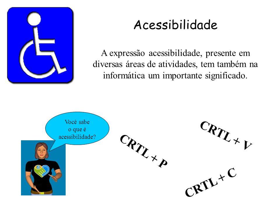 Acessibilidade CRTL + V CRTL + P CRTL + C