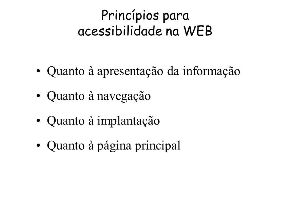 Princípios para acessibilidade na WEB