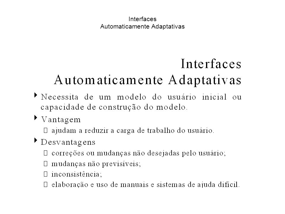 Interfaces Automaticamente Adaptativas