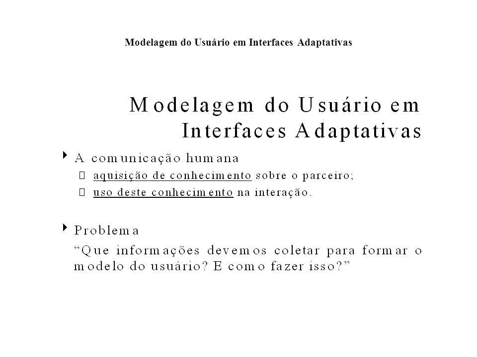 Modelagem do Usuário em Interfaces Adaptativas