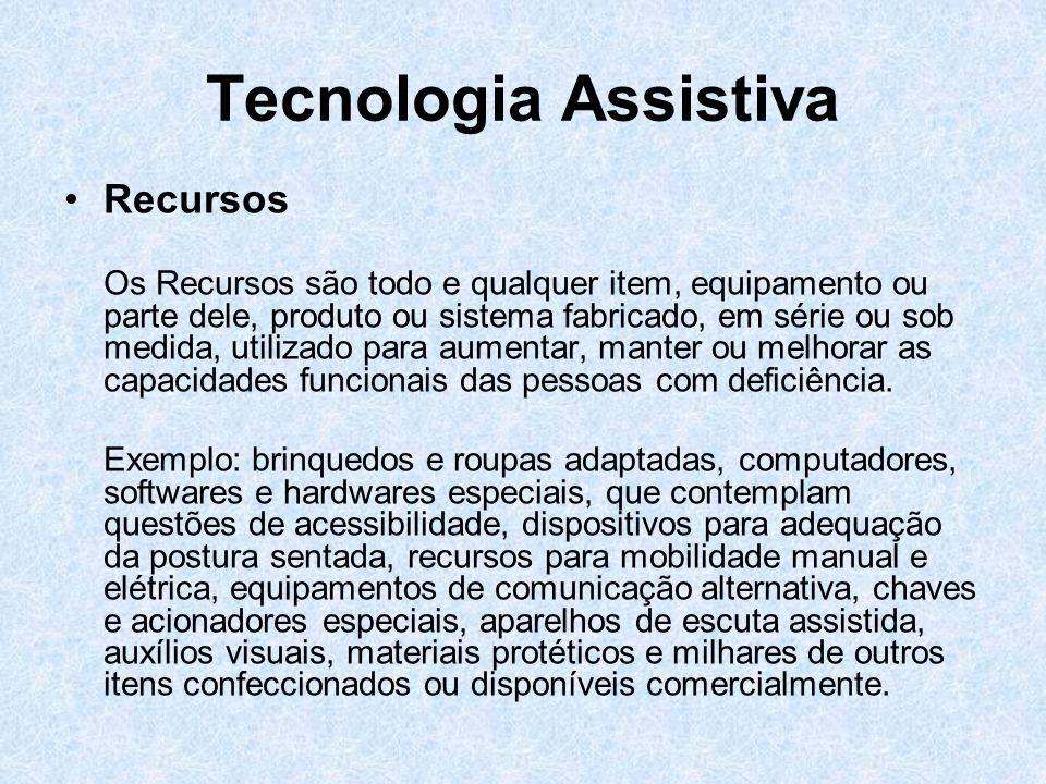 Tecnologia Assistiva Recursos