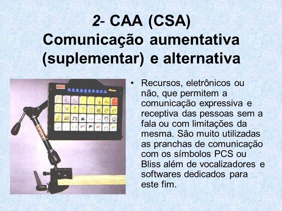 2- CAA (CSA) Comunicação aumentativa (suplementar) e alternativa