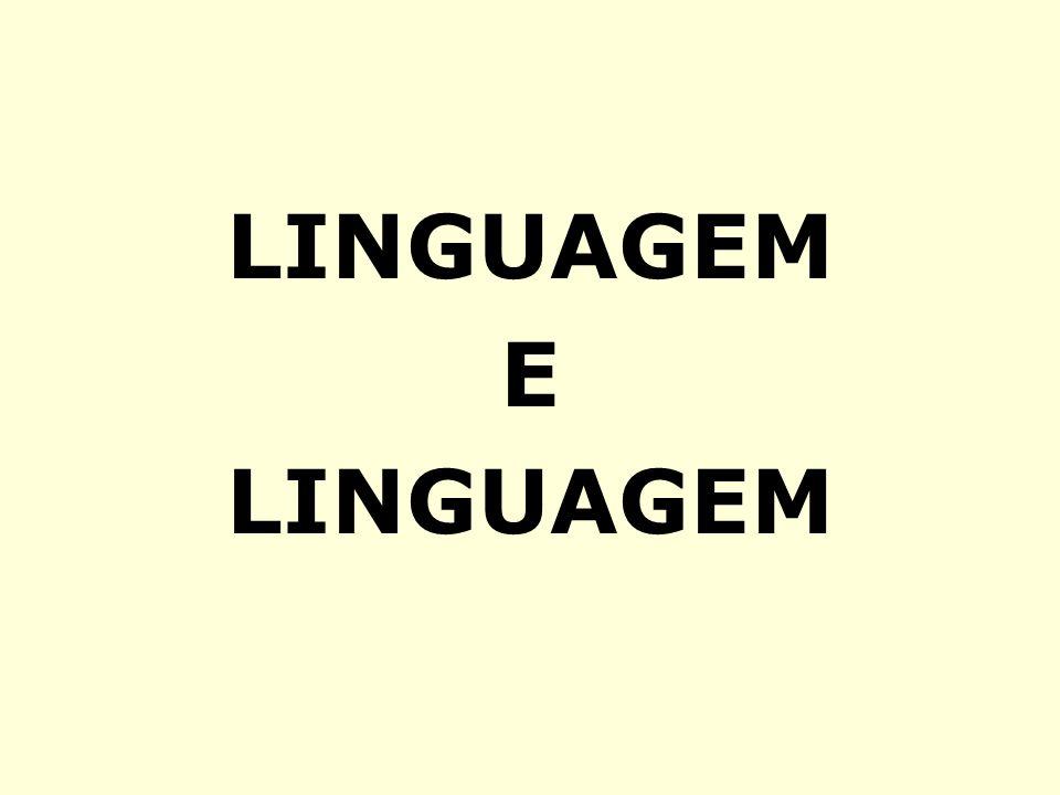 LINGUAGEM E LINGUAGEM E