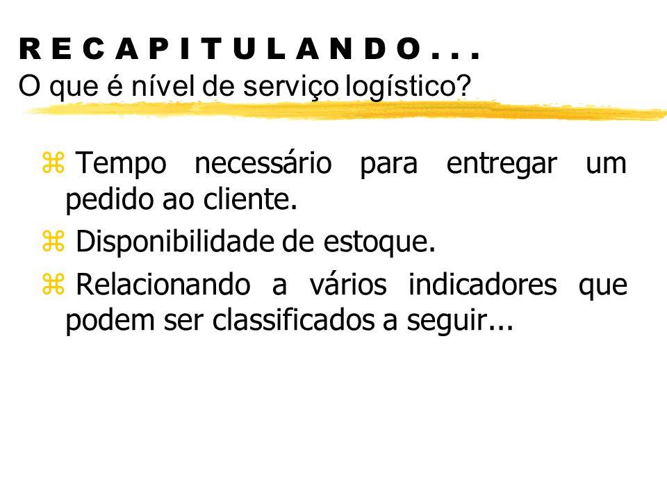 R E C A P I T U L A N D O . . . O que é nível de serviço logístico