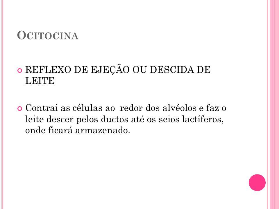 Ocitocina REFLEXO DE EJEÇÃO OU DESCIDA DE LEITE