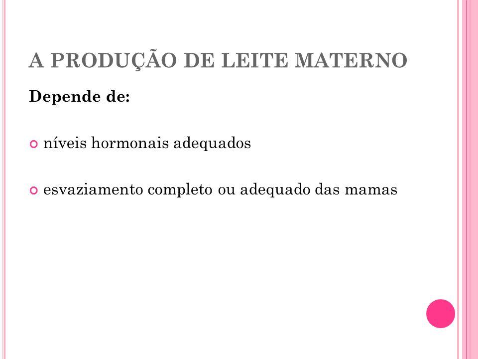 A PRODUÇÃO DE LEITE MATERNO