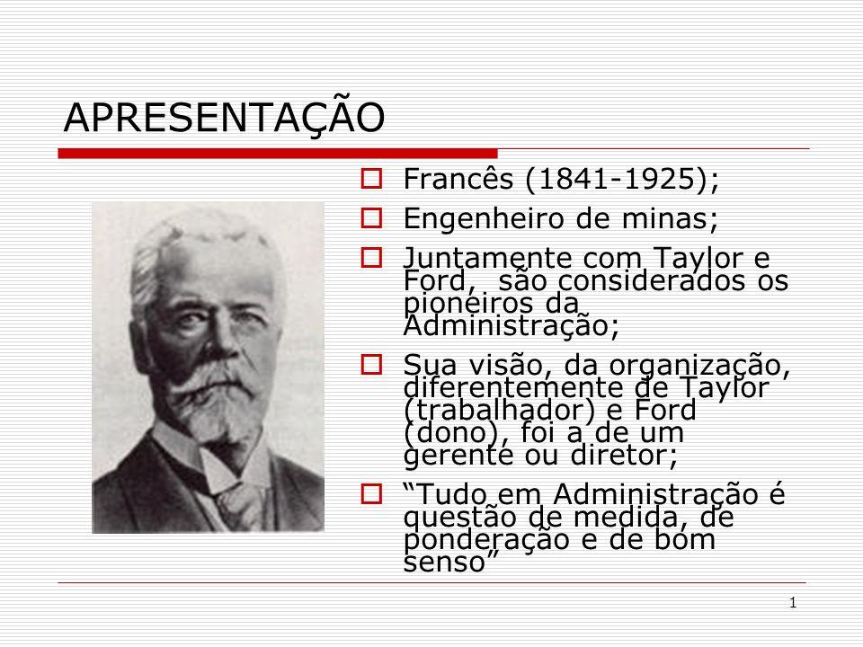 APRESENTAÇÃO Francês (1841-1925); Engenheiro de minas;