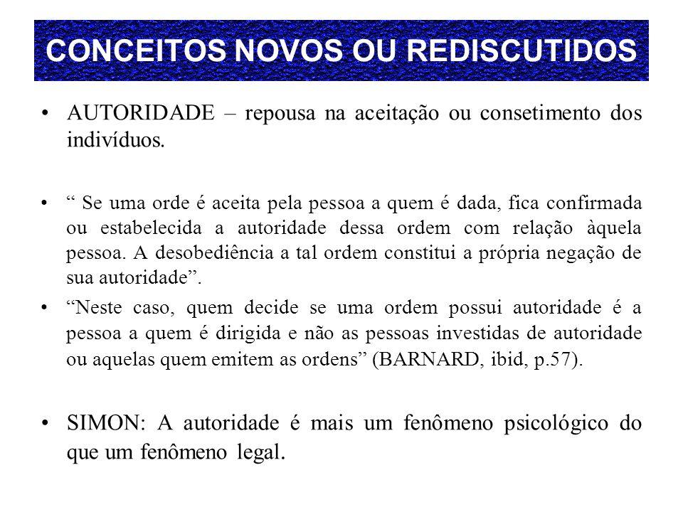 CONCEITOS NOVOS OU REDISCUTIDOS