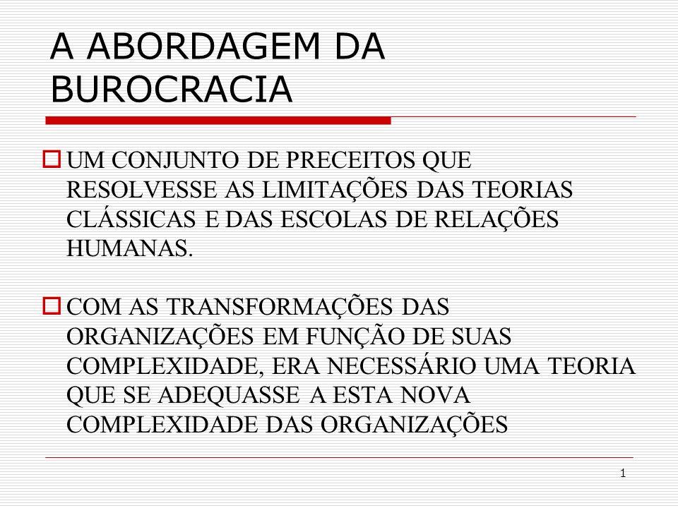 A ABORDAGEM DA BUROCRACIA