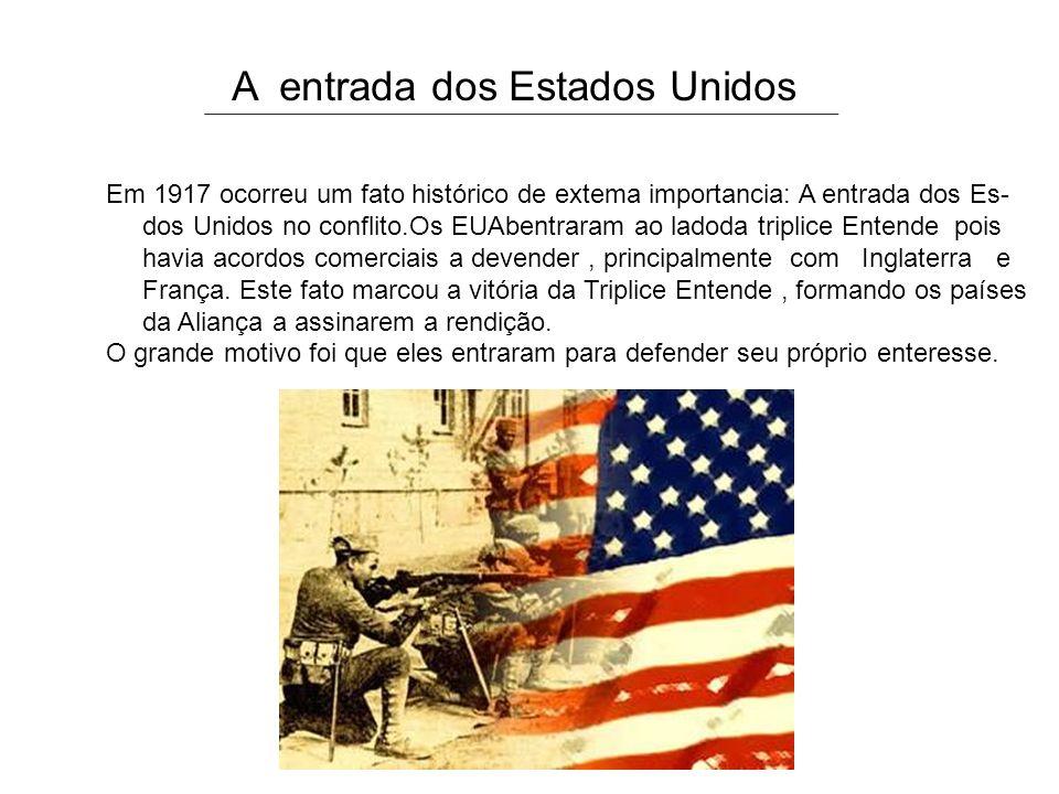 A entrada dos Estados Unidos