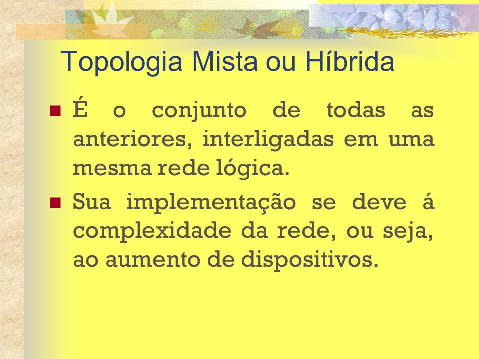 Topologia Mista ou Híbrida