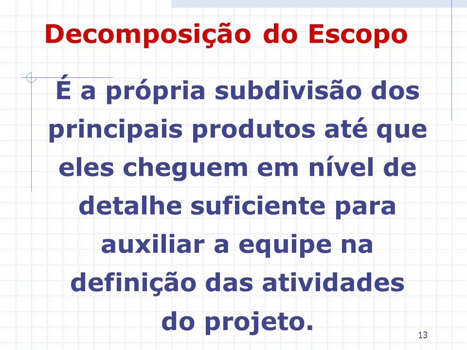 Decomposição do Escopo