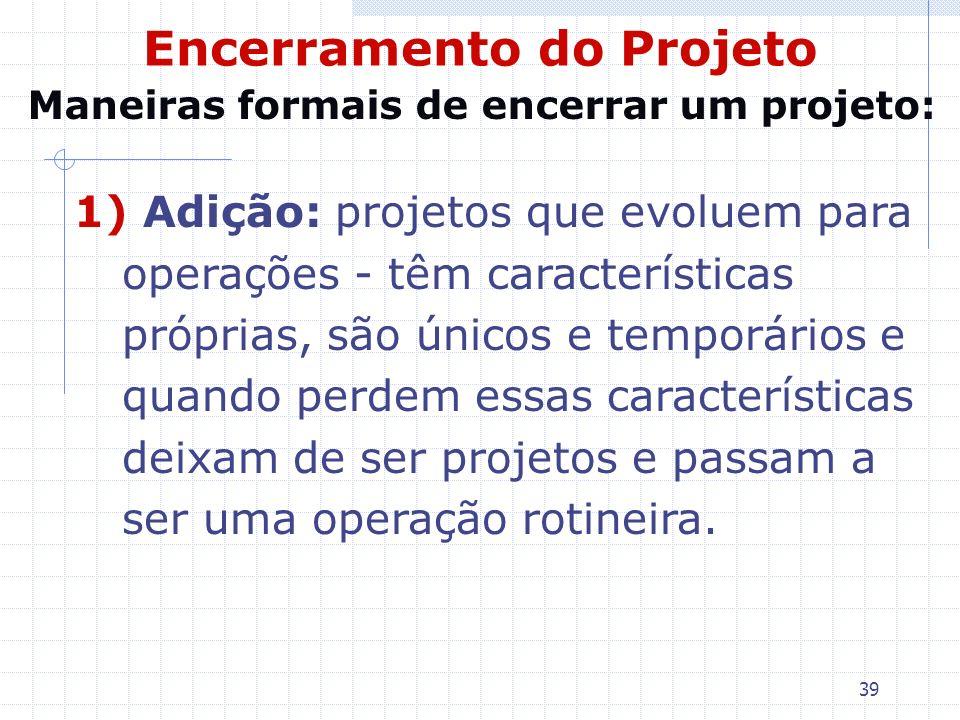 Encerramento do Projeto