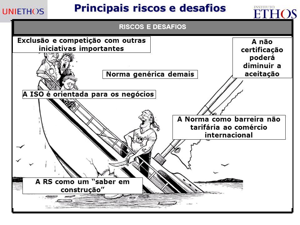 Principais riscos e desafios
