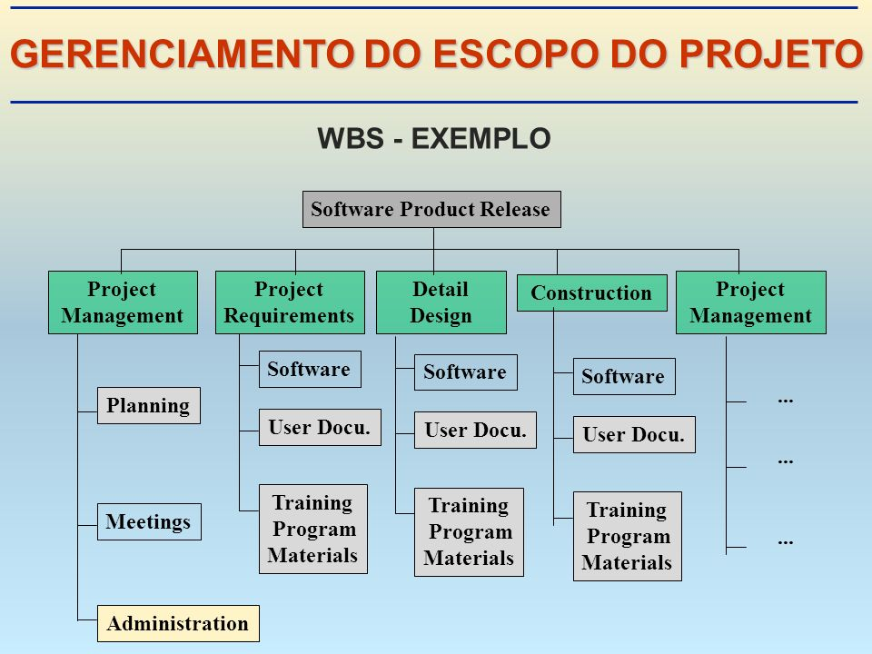 GERENCIAMENTO DO ESCOPO DO PROJETO Software Product Release