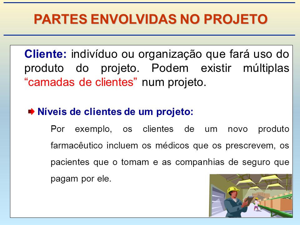 PARTES ENVOLVIDAS NO PROJETO