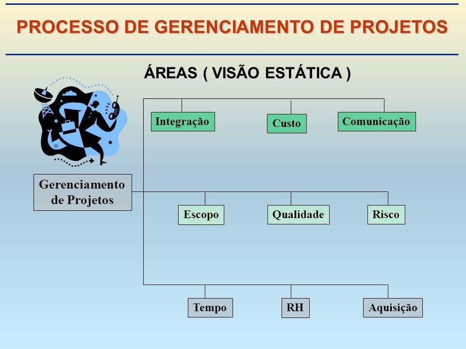 PROCESSO DE GERENCIAMENTO DE PROJETOS ÁREAS ( VISÃO ESTÁTICA )