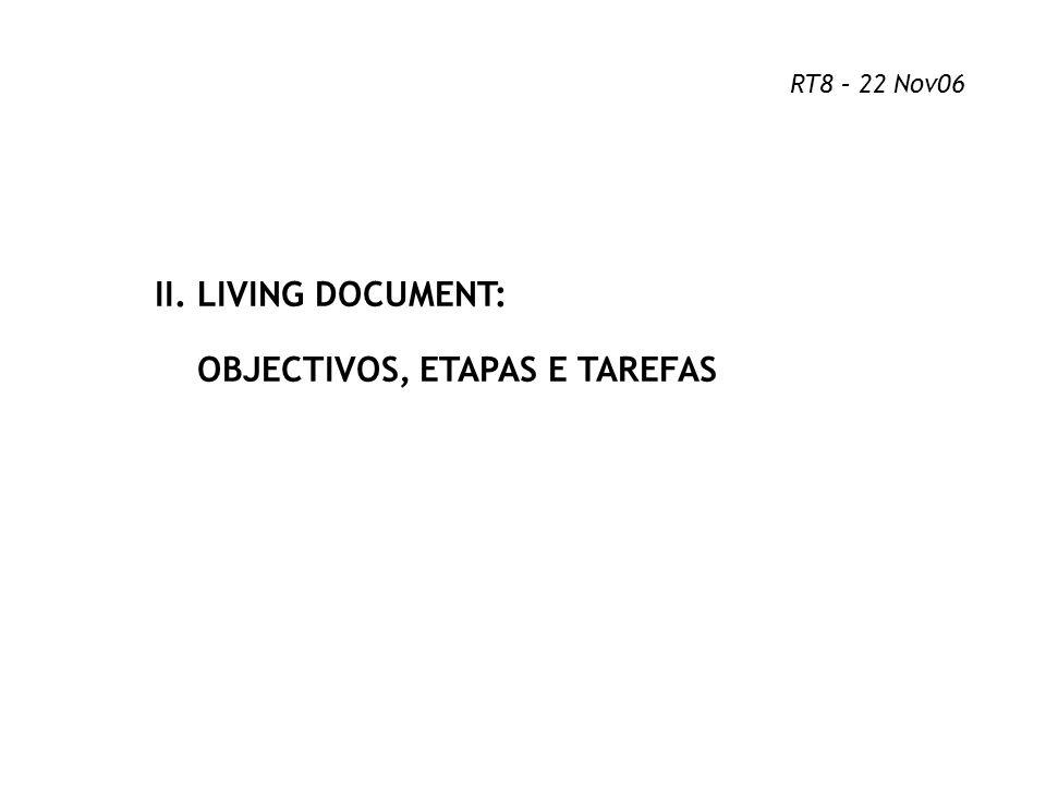 OBJECTIVOS, ETAPAS E TAREFAS