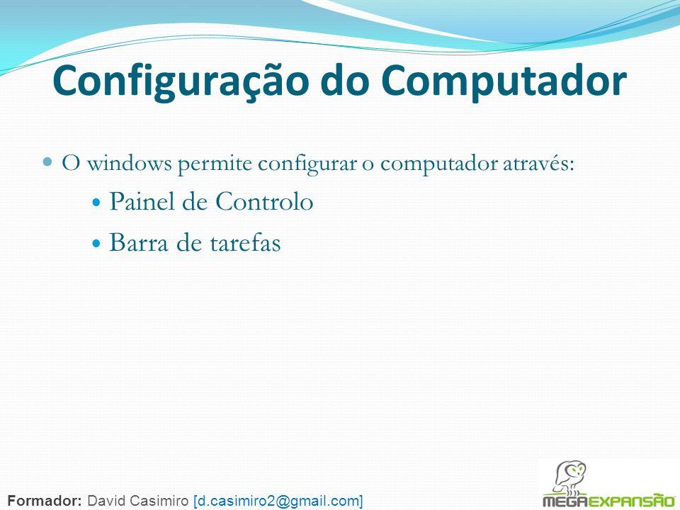 Configuração do Computador