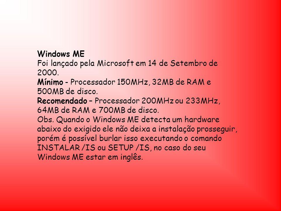 Windows MEFoi lançado pela Microsoft em 14 de Setembro de 2000.