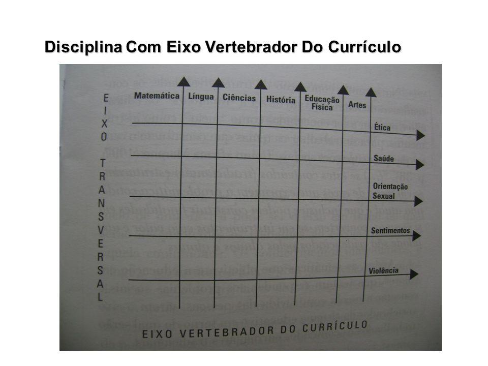 Disciplina Com Eixo Vertebrador Do Currículo