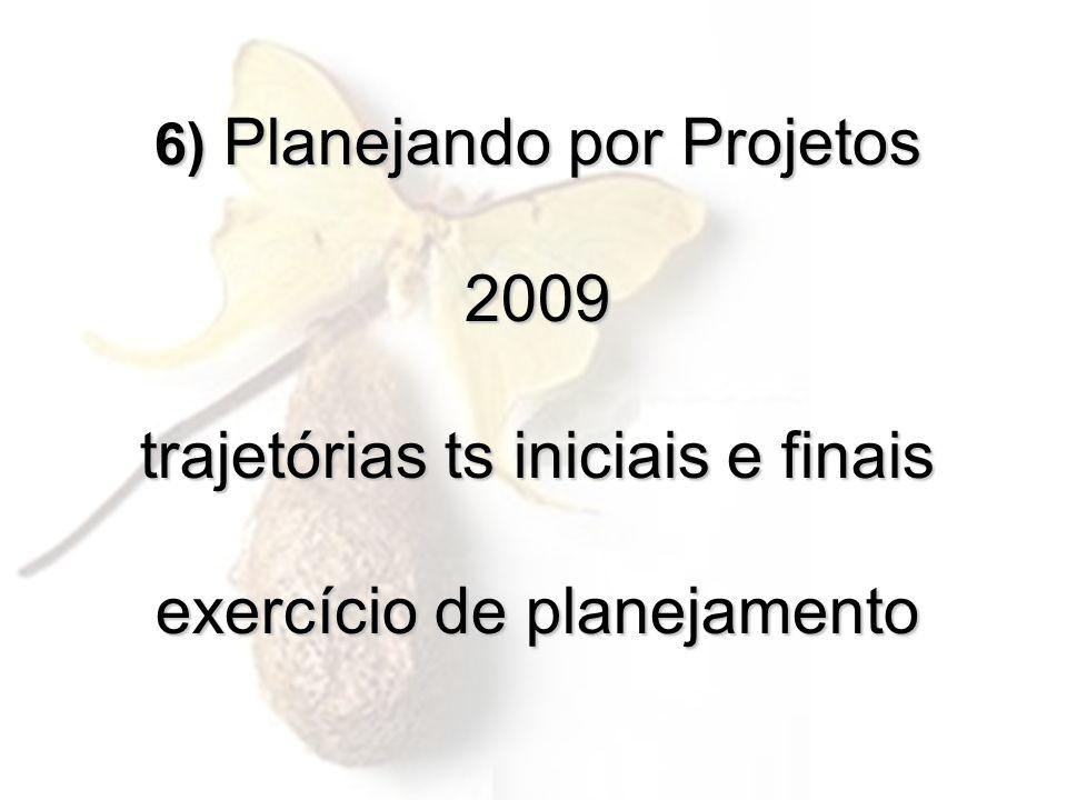 6) Planejando por Projetos 2009 trajetórias ts iniciais e finais exercício de planejamento