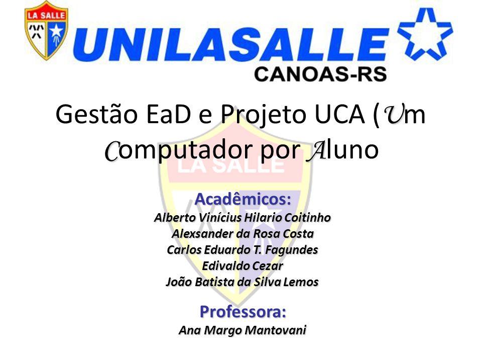 Gestão EaD e Projeto UCA (Um Computador por Aluno