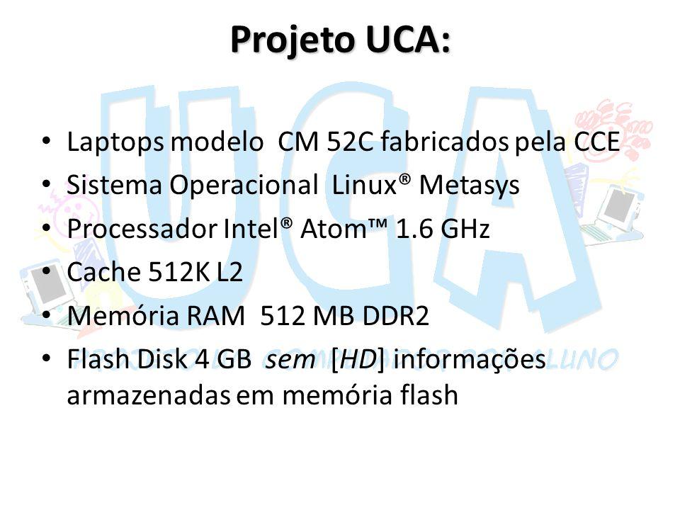Projeto UCA: Laptops modelo CM 52C fabricados pela CCE