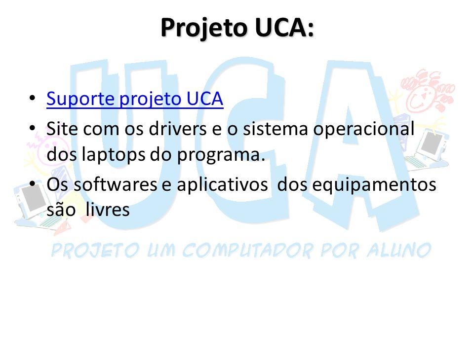 Projeto UCA: Suporte projeto UCA