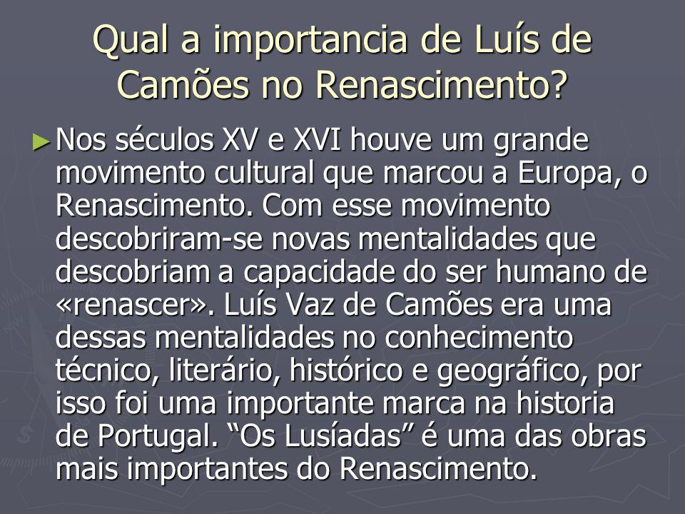 Qual a importancia de Luís de Camões no Renascimento