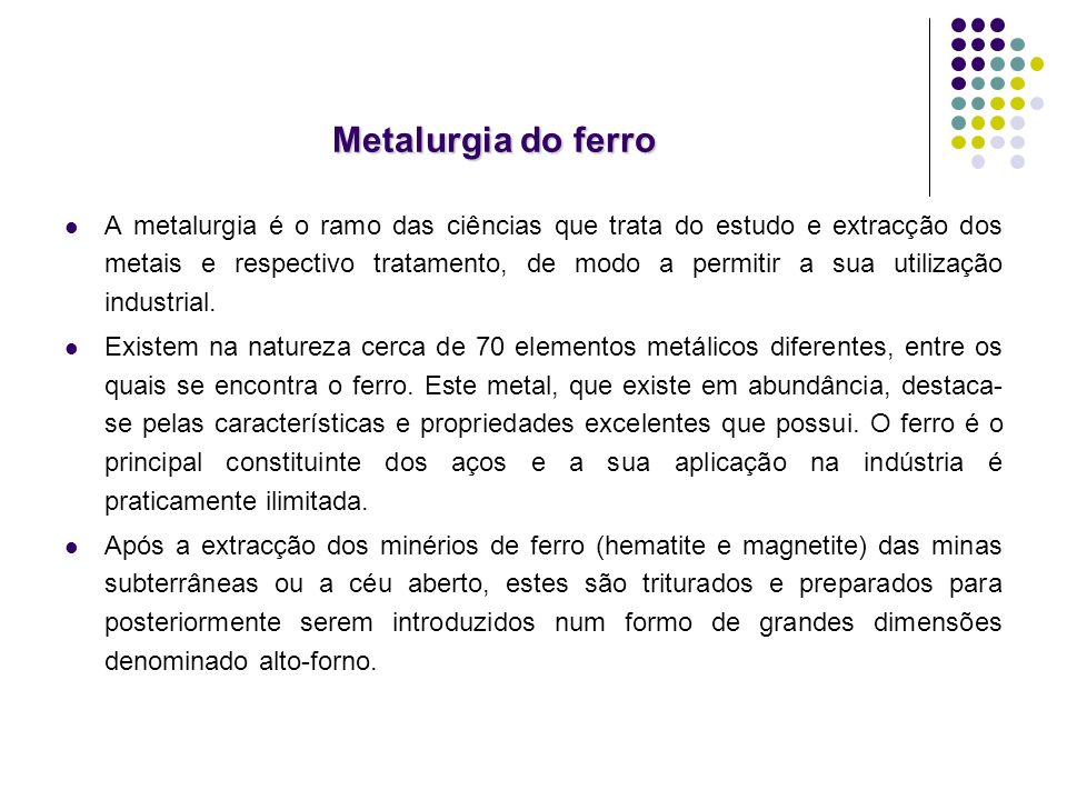 Metalurgia do ferro
