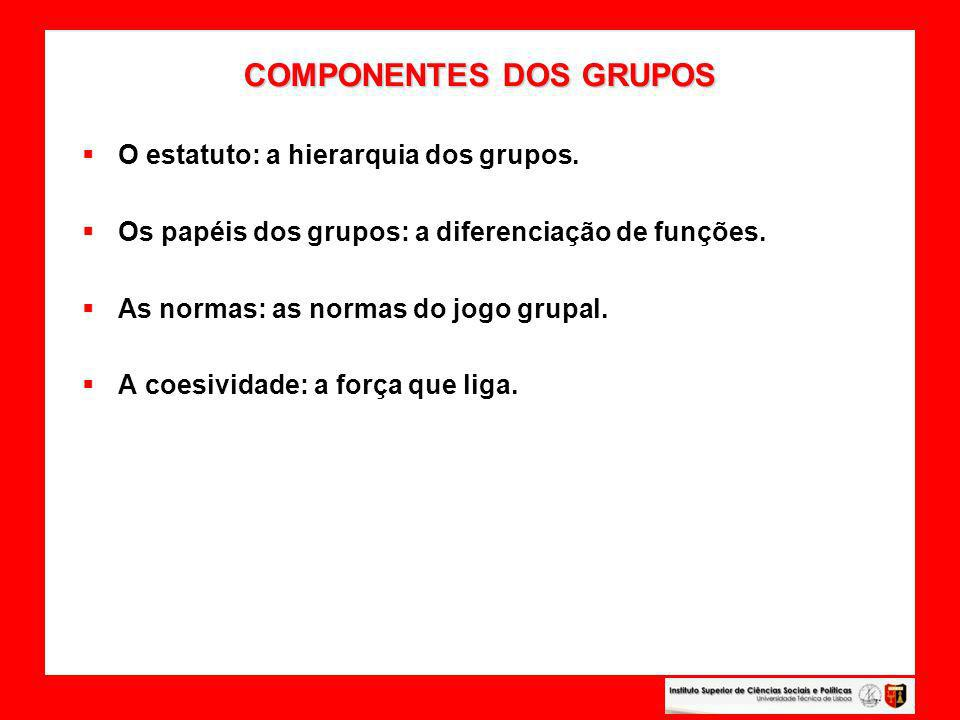 COMPONENTES DOS GRUPOS